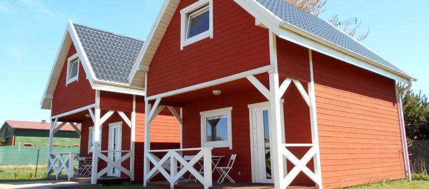 Karwia. Domki skandynawskie, pokoje i apartament nad morzem