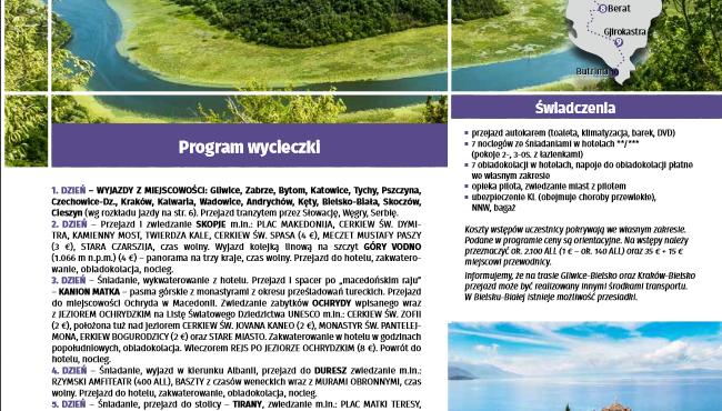 Geotour poleca wycieczkę do Albanii i Macedonii – tel 32 3460307