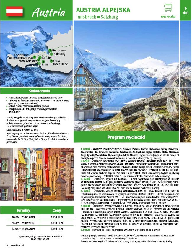Austria Alpejska – atrakcyjna wycieczka autokarowa – poleca Geotour Chorzów 32 3460308