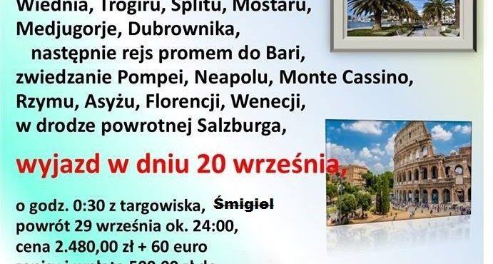 wycieczka Włochy Chorwacja 10 dni