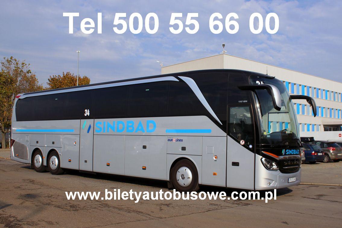 Bilety Sindbad do 500 miast w Europie tel 500556600