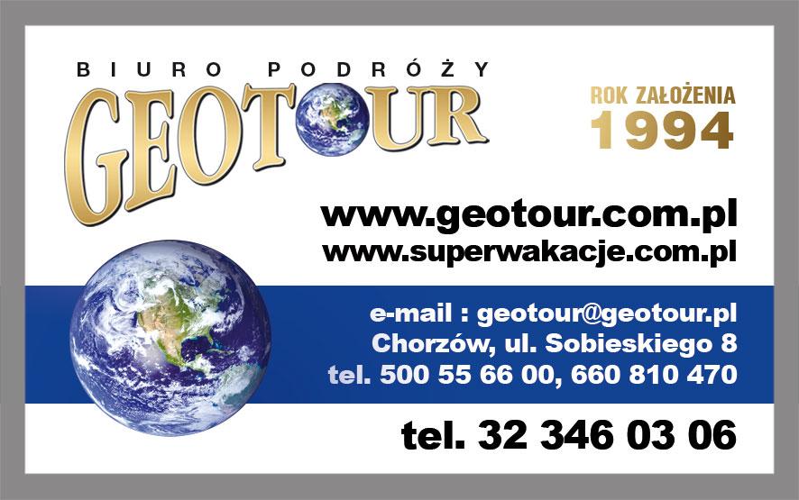Biuro Podróży Geotour w Chorzowie – aktualne oferty turystyczne, bilety autokarowe i lotnicze
